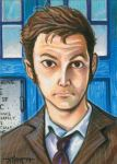 Sketchcard: The 10th Doctor by Everwho
