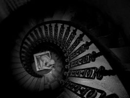 stairway with statue by torobala