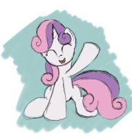 Quick Sweetie Belle Sketch by Grennadder