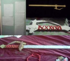 The process of Milla's Sword by NigelCosplay