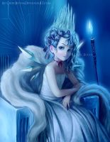 Cirno the White Witch by CelticBotan