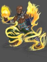 Brotha with that flame   Ipad WIP by shiphfwd