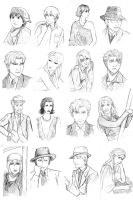 Baccano! with pencils by feboee