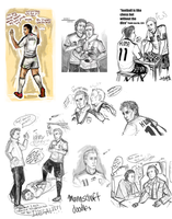 Mannschaft- Doodles by Moonlight-Mage-Shiro