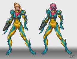 Metroid Fusion Suit Redesign (WIP) by imDRUNKonTEA