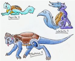 Sqirtle Evolution Series X by CelestialTentails