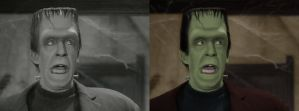 Herman Munster - before after by B-D-I