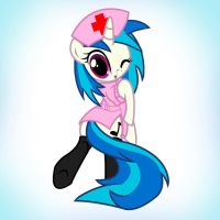 Vinyl Scratch Nurse by Pyruvate