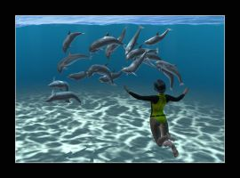 Watching the Dolphins at Play by CitizenOlek