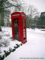 Wintery Enfield Telephone Box by TheBigDaveC