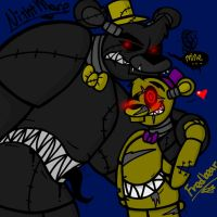 Nightmare and Fredbear (FNaF 4) by YaoiLover113