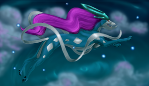 Suicune by LimeGreenBean