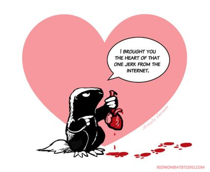 Morally Ambiguous Honey Badger Valentine #2 by ursulav