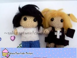 L and Misa (Death Note) Amigurumi by sakura-sweetcake