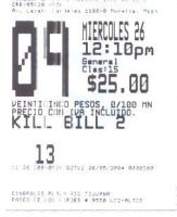 Kill bill vol.2 Ticket by stanmx