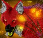 Twist on maned wolf by Ryehara