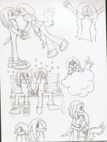Diamond and Knux Doodles by SirenAnimations