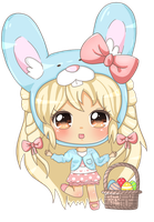 Happy easter Blondey by KawaiiiJackiiie