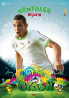 NABIL BENTALEB WORLD CUP 2014 POSTER by asendos