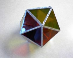 Stained glass polyhedron 2 by violetice