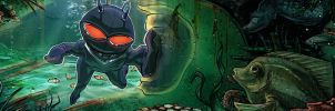 Black Manta Scribblenaut by Zayrot