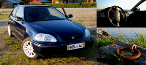 Honda Civic Triptych by Styrox-Art