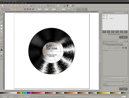 SVG Record with outlines by dphase