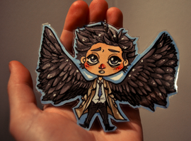 Supernatural: Castiel keychain by cannorachan