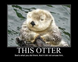 Otter Poster by earthy-rah