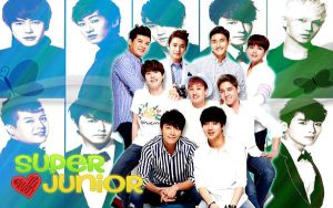 Wall Suju greenblue ver by RainboWxMikA