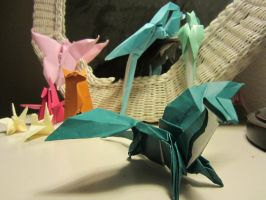 Flying Origami -and a Llama- by NoNutritionalValue