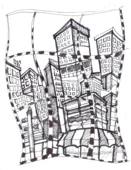 city doodle by richard-chin