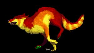 Fire-Wolf Design -Closed- by SilenceMoonskin