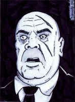 Tor Johnson ACEO Sketch card by JesseAcosta