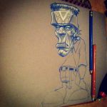ESE FRAKEE ART BROWN73 VATO by BROWN73