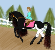 Kaiser Dressage Training by jackiehorse