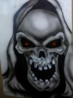 practise airbrushed free hand Grim Reaper by Miss-Tash