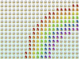 A Penguin Rainbow by happienoodleboy