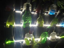 Glowing Bottles by AbstractWater