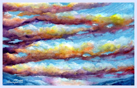 Evening Clouds by HamidM