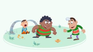 Kids Playing Gasing by senimation