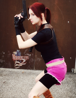 Something's Coming-RE2 Claire Redfield Cosplay by Hamm-Sammich