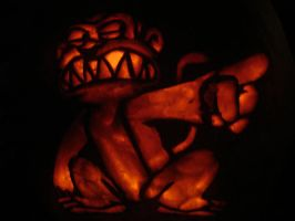 Evil Monkey Pumpkin Carving by Skimbleshanks2