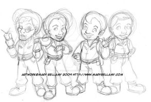 FA Ghost Busters Chibis by MaryBellamy
