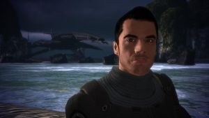 Kaidan and the Normandy - Mass Effect, Virmire by loraine95