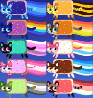 Nyan cat adoptables 7 LEFT by Nutty-Nutzis
