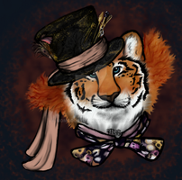 Mad Hatter Tiger by momodory09