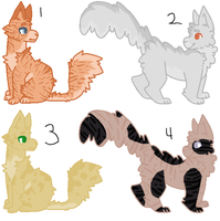 Cat adoptables 3 CLOSED by NeedingBends