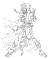 D+D4th: Lich - Line Art by ChristopherStevens