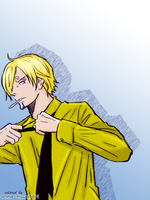 Sanji loose coloring by AnnaHiwatari
